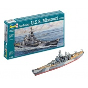 Battleship U.S.S. Missouri(WWII) (1:1120) - EN/DE/FR/NL/ES/IT