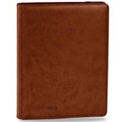 UP - Premium Pro-Binder - 9-Pocket Portfolio - Brown