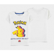 Pokémon - Pika Silhouette - Girls Short Sleeved T-shirt