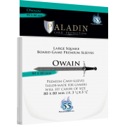 Paladin Sleeves - Owain Premium Large Square 80x80mm (55 Sleeves)