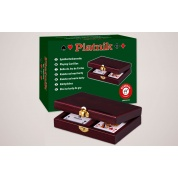 Luxuskassette Holz ( Bridge/Poker )
