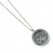 Harry Potter - Floating Charm Locket Necklace with 3 charms