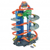 Hot Wheels City Megacity Parkgarage mit T-Rex-Angriff