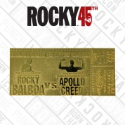 Rocky II Apollo Creed 24K Gold Plated Limited Edition Fight Ticket