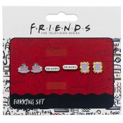 Friends - Set of 3 Earring Studs; Frame, Coffee Cup, Friends Logo