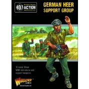 Bolt Action 2 German Heer Support Group (HQ, Mortar & MMG) - EN