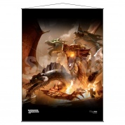 UP - Wall Scroll - The Rise of Tiamat - Dungeons & Dragons Cover Series