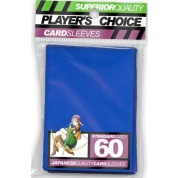 Player's Choice Premium Standard Sized Card Sleeves - Blue (60 Sleeves)