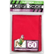 Player's Choice Premium Standard Sized Card Sleeves - Red (60 Sleeves)