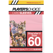 Player's Choice Premium Standard Sized Card Sleeves - Power Pink (60 Sleeves)