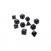 UP - Eclipse 11 Dice Set: Jet Black