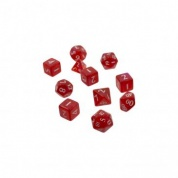 UP - Eclipse 11 Dice Set: Apple Red