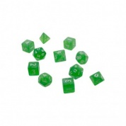 UP - Eclipse 11 Dice Set: Lime Green