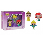 Funko Pocket POP! Disney - The Good Girls Tin 3-Pack feat. Tinker Bell, Ariel and Belle Vinyl Figures 4cm