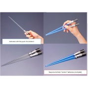Star Wars Luke Skywalker Lightsaber Chopsticks Set (2) w/ Light-Up Effect 24cm