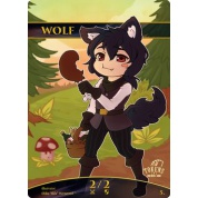 Tokens for MTG - Wolf Chibi Token (10 pcs)