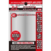 KMC Small Sleeves - Silver (50 Sleeves)