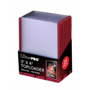 "UP - Toploader - 3"" x 4"" Red Border (25 pieces)"