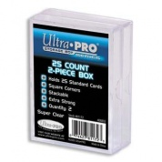 UP - 2-Piece Storage Box - for 25 Cards - Clear (2 Boxes)