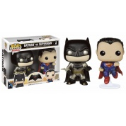 Funko POP! Heroes - Batman VS Superman: Batman & Superman Metallic 2-pack - Vinyl Figures 10cm