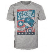 Funko POP! Tees - Captain America Fighting for Freedom (S)