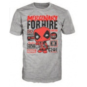 Funko POP! Tees - Deadpool Mercenary For Hire (S)