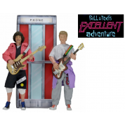 Bill & Ted's Excellent Adventure Clothed Action Figures 18cm Deluxe Boxed Set incl. Phone Booth