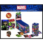 Marvel Collectible Jumbo Pins - Limited Edition Pins & Premium Collectible Back Cards Sets (2) Display Box (12 x blind boxes)